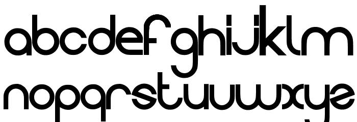 Evolution Font LOWERCASE