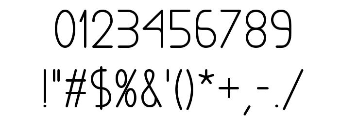 Exacta Bold Font OTHER CHARS