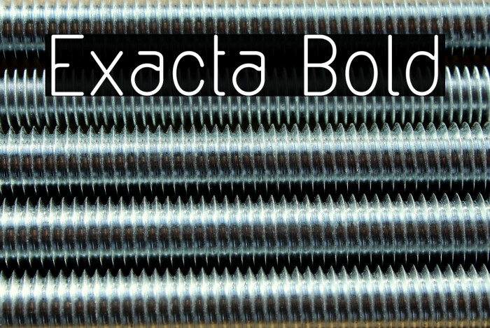 Exacta Bold Font examples
