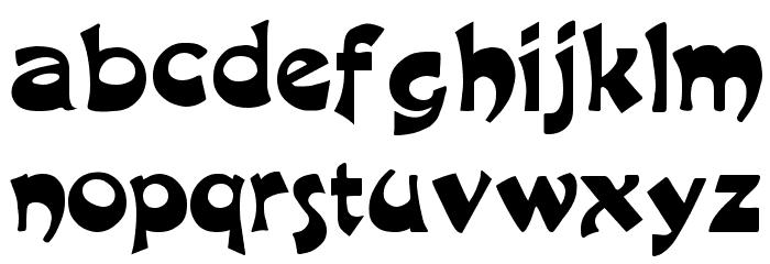 Excalibur Logotype Normal Font LOWERCASE