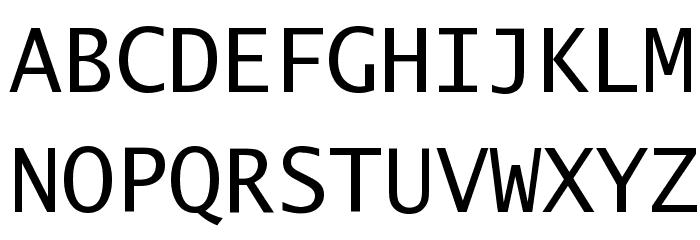 Excalibur Monospace Font UPPERCASE