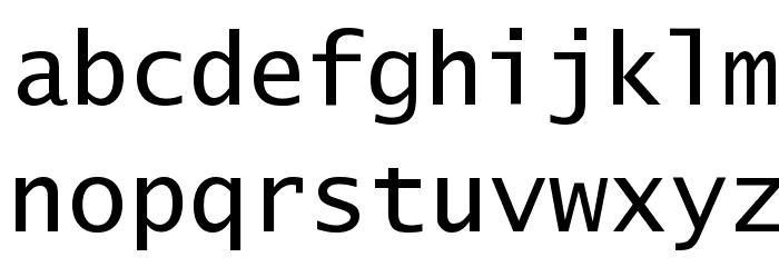 Excalibur Monospace Font LOWERCASE