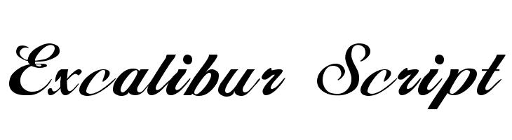 Excalibur Script  Скачать бесплатные шрифты