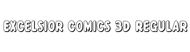 Excelsior Comics 3D Regular  Скачать бесплатные шрифты