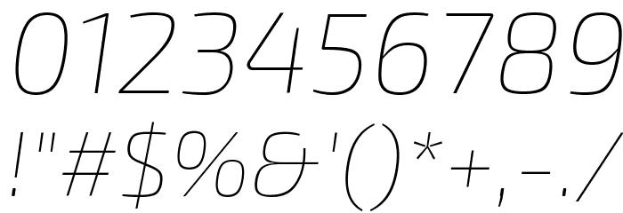 Exo 2 Thin Italic Fonte OUTROS PERSONAGENS