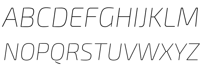 Exo 2 Thin Italic Fonte MAIÚSCULAS