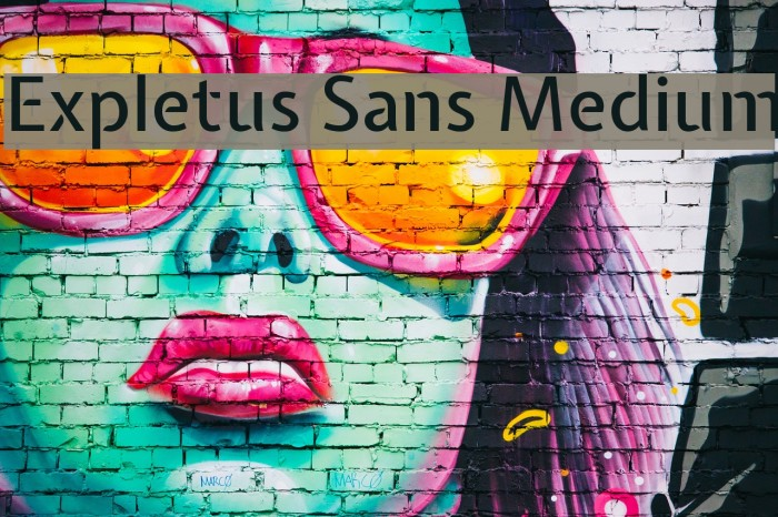 Expletus Sans Medium Font examples