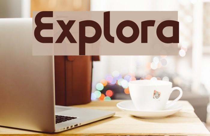 Explora Font examples