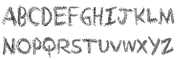 ExtraString Font LOWERCASE