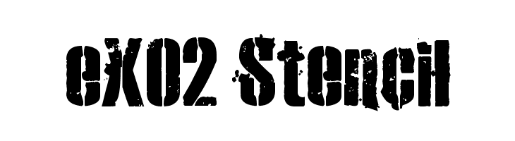 eXO2 Stencil  Free Fonts Download