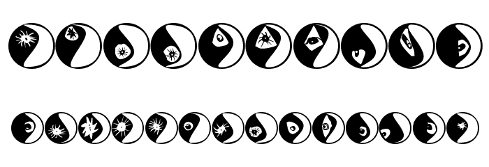 Eyeballs Font OTHER CHARS