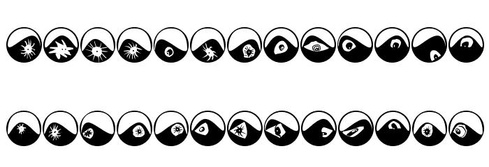 Eyeballs Font LOWERCASE
