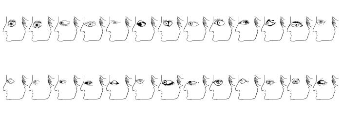 EyesTests Font UPPERCASE