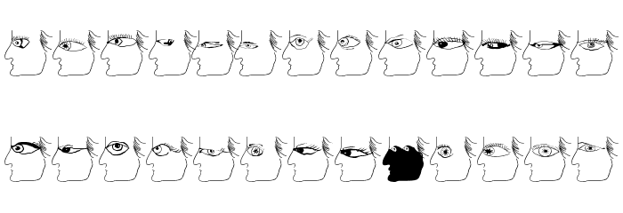 EyesTests Font LOWERCASE