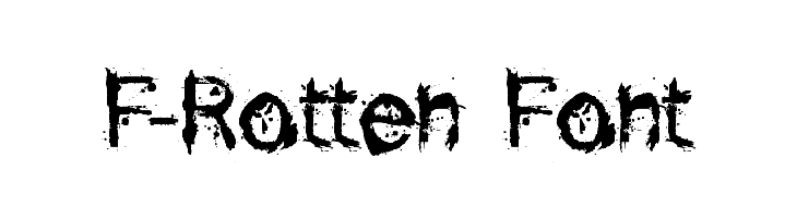 F-Rotten Font  Fuentes Gratis Descargar