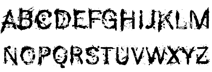 F-Rotten Font Polices MAJUSCULES