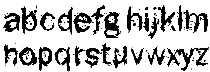 F-Rotten Font Polices MINUSCULES