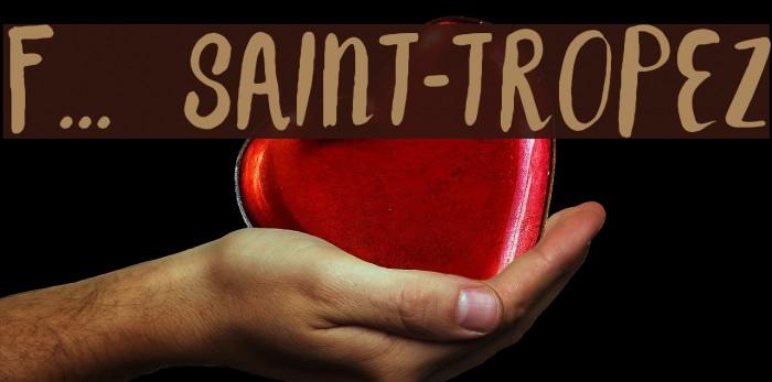F... SAINT-TROPEZ Font examples