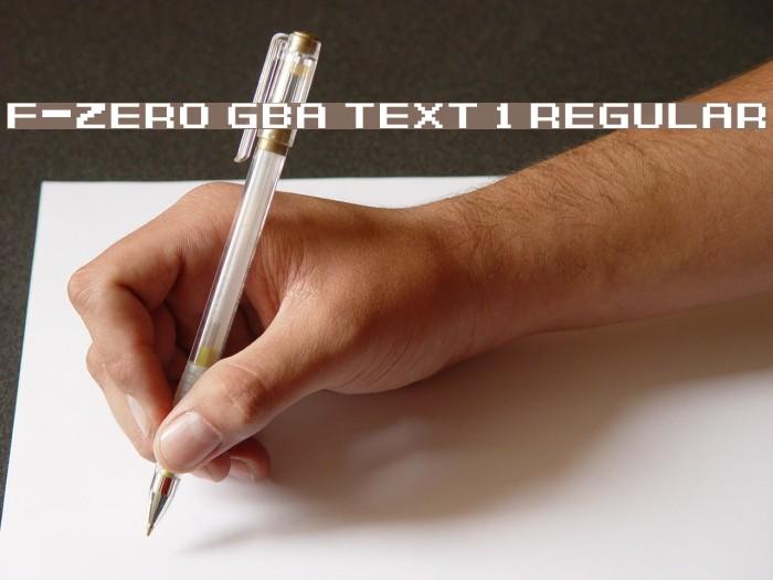 F-Zero GBA Text 1 Regular Font examples