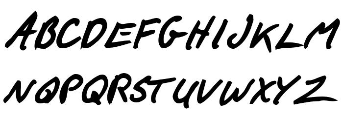 F*ck Beans Bold Italic Font Litere mari