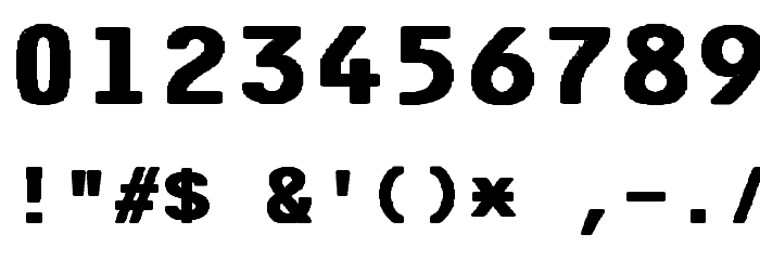 F25 Bank Printer Bold Font OTHER CHARS