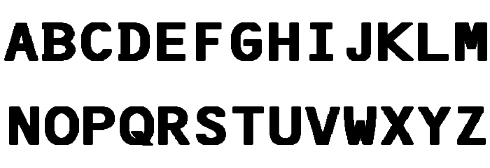 F25 Bank Printer Bold Font UPPERCASE