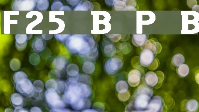F25 Bank Printer Bold Font examples