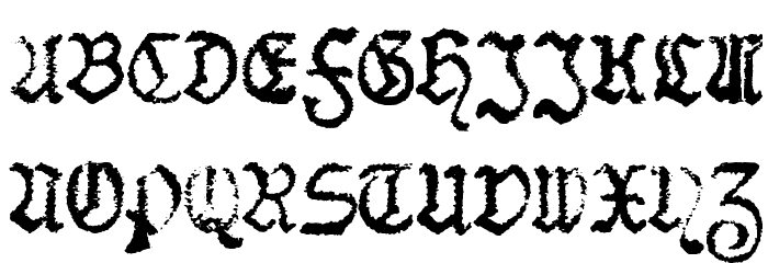 F25 BlackletterTypewriter Font UPPERCASE