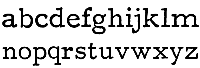 F25 Executive Font LOWERCASE
