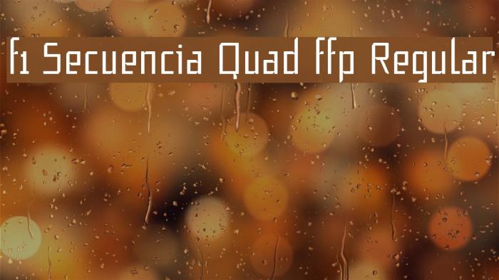 f1 Secuencia Quad ffp Regular Polices examples