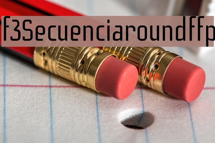 f3Secuenciaroundffp फ़ॉन्ट examples