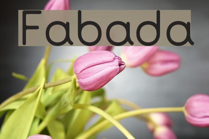 Fabada Font examples