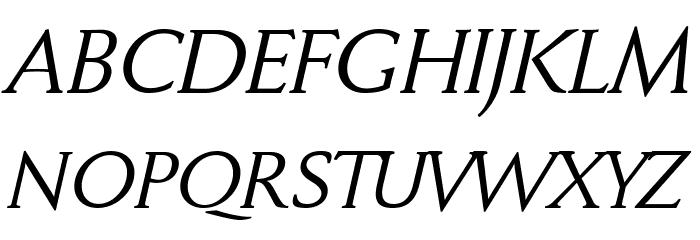 FaberDrei-Kursivreduced Font UPPERCASE