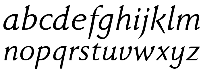 FaberDrei-Kursivreduced Font LOWERCASE