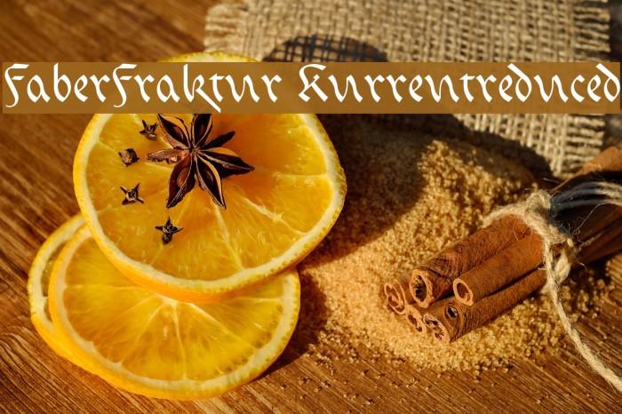 FaberFraktur-Kurrentreduced Fonte examples