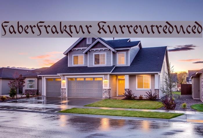 FaberFraktur-Kurrentreduced Font examples