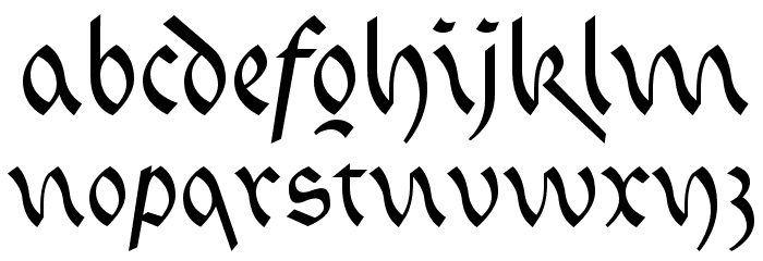 FaberFraktur-Kurrentreduced Fonte MINÚSCULAS