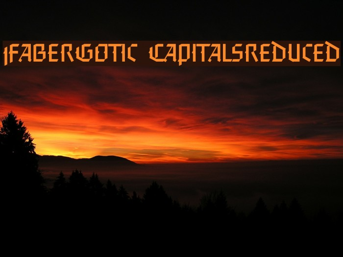 FaberGotic-Capitalsreduced Fonte examples