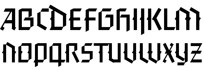 FaberGotic-Capitalsreduced Fonte MINÚSCULAS
