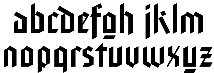 FaberGotic-Gothicreduced Fonte MINÚSCULAS