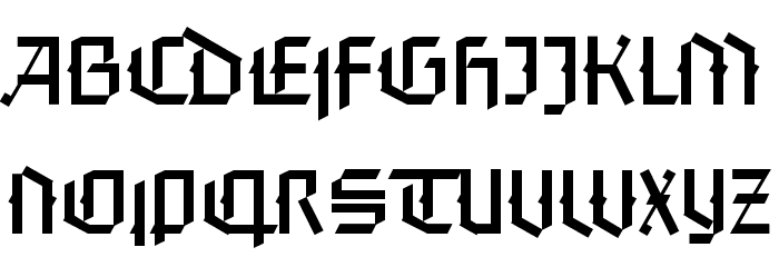 FaberGotic-Textreduced Font UPPERCASE