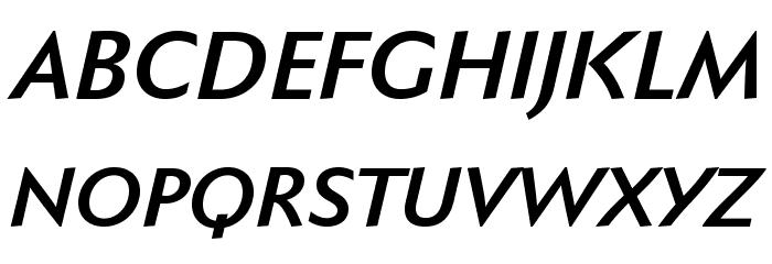 FaberSansPro-HalbfettKursiv Fonte MAIÚSCULAS