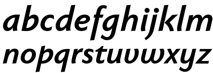 FaberSansPro-HalbfettKursiv Font LOWERCASE