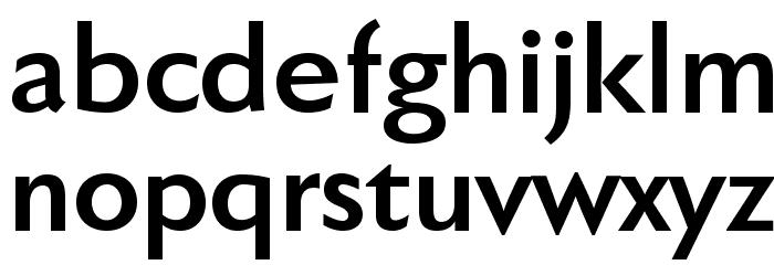 FaberSansPro-Halbfett Font LOWERCASE