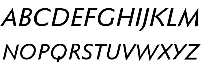FaberSansPro-KraeftigKursiv Fonte MAIÚSCULAS
