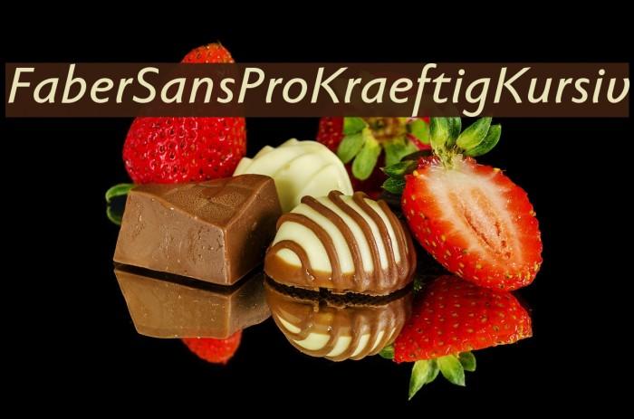 FaberSansPro-KraeftigKursiv Fonte examples