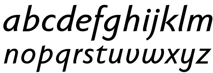 FaberSansPro-KraeftigKursiv Fonte MINÚSCULAS