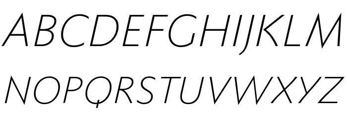 FaberSansPro-LeichtKursiv Font UPPERCASE