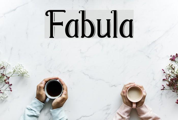 Fabula Шрифта examples