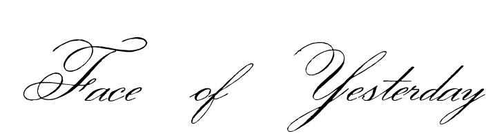 Face of Yesterday  Скачать бесплатные шрифты